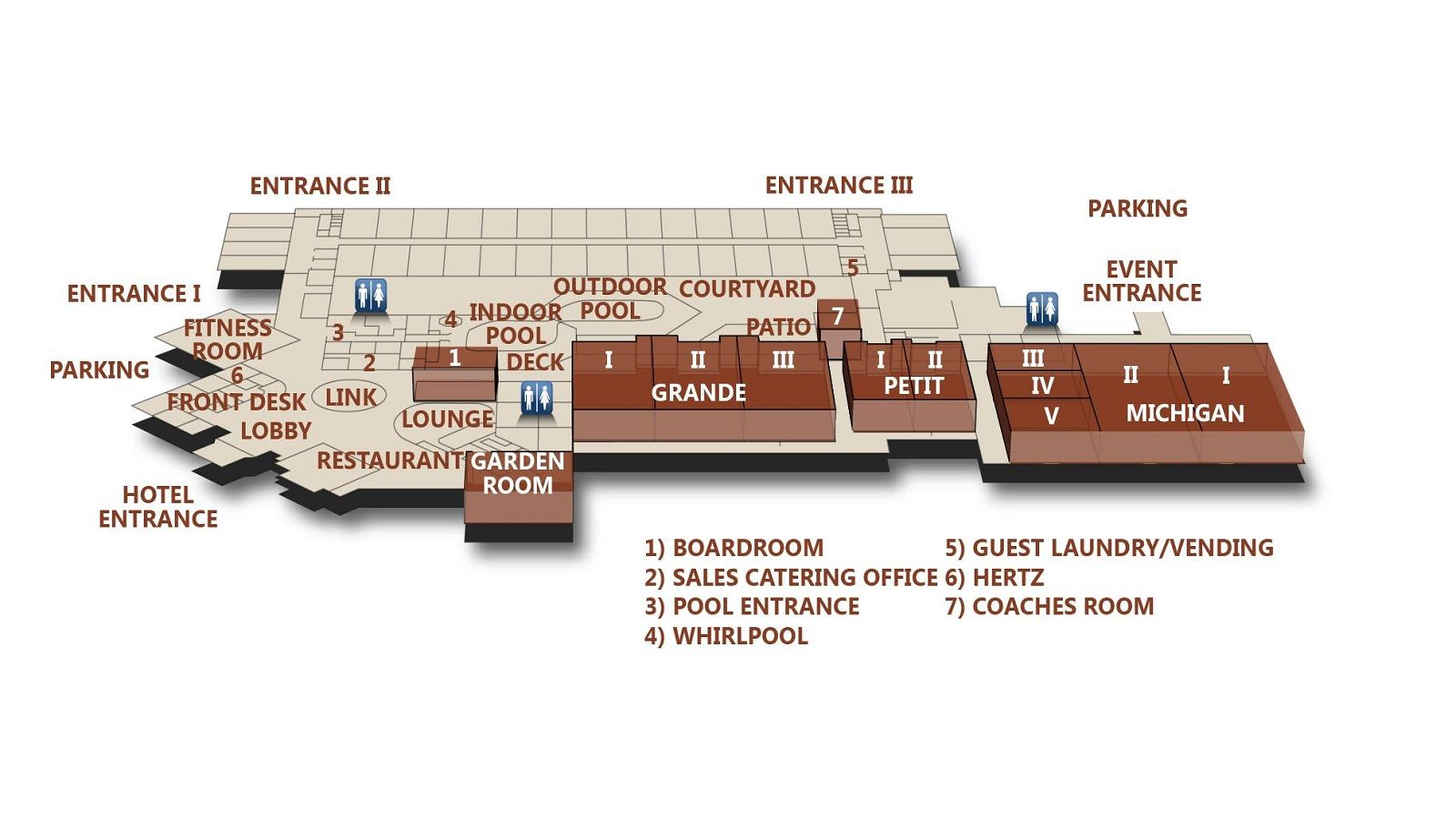 Event Space Ann Arbor - Meetings Space Map